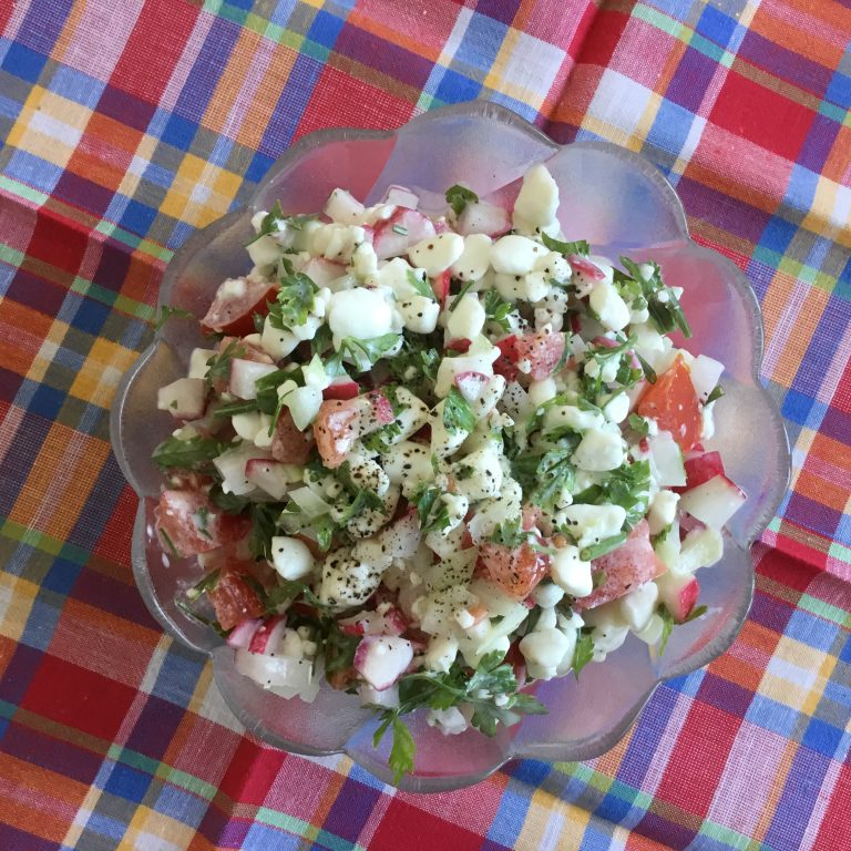 Cottage cheese with vegetables