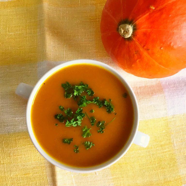Low FODMAP pumpkin soup
