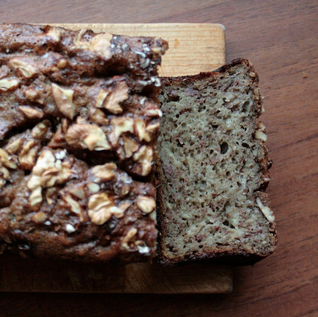 Banana bread with chia seeds and walnuts