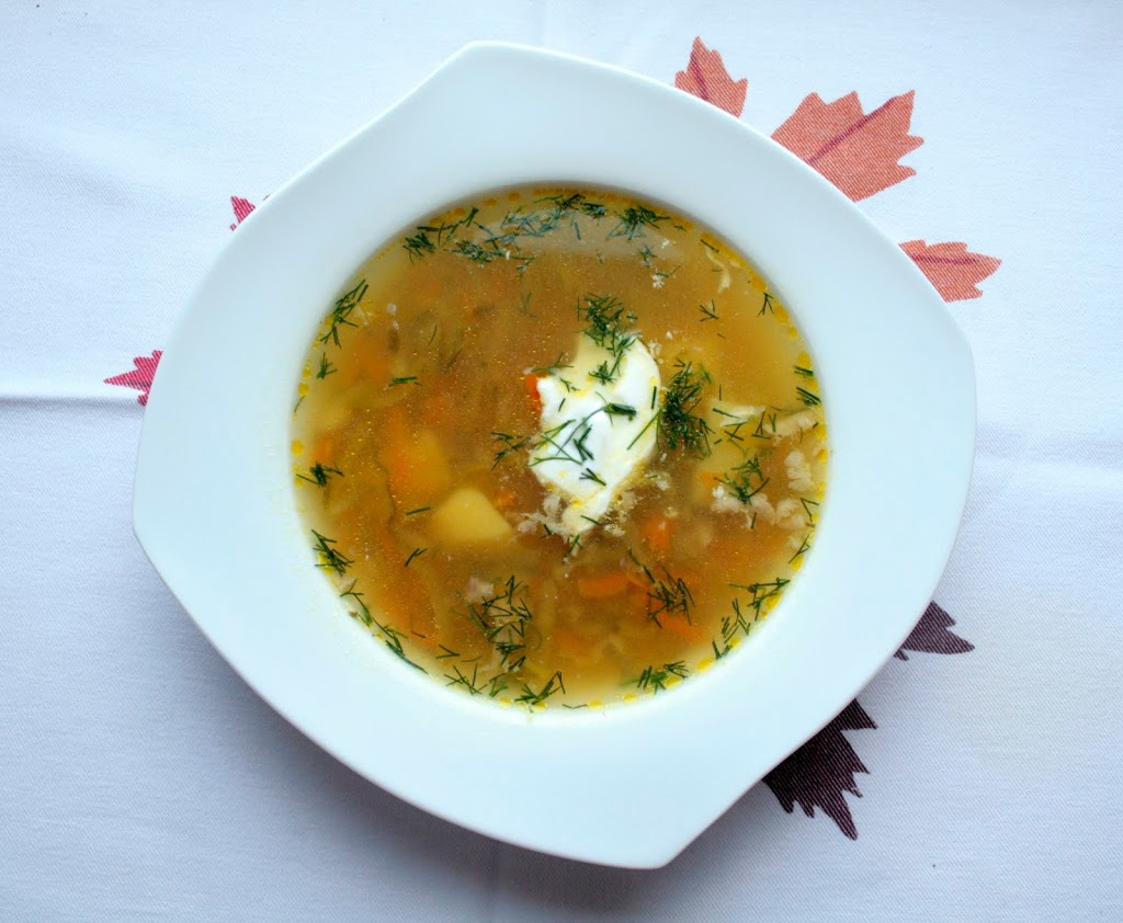 Low FODMAP Polish cucumber soup- ogorkowa