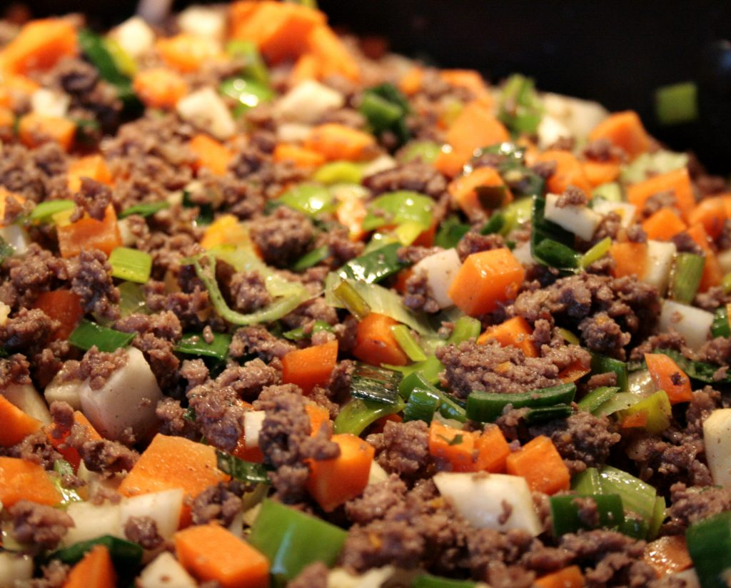 cooking a cottage pie