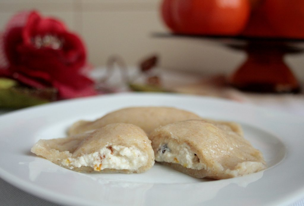 Pierogi dumplings with cheese