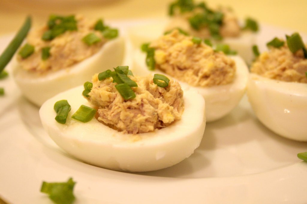 tuna stuffed egg