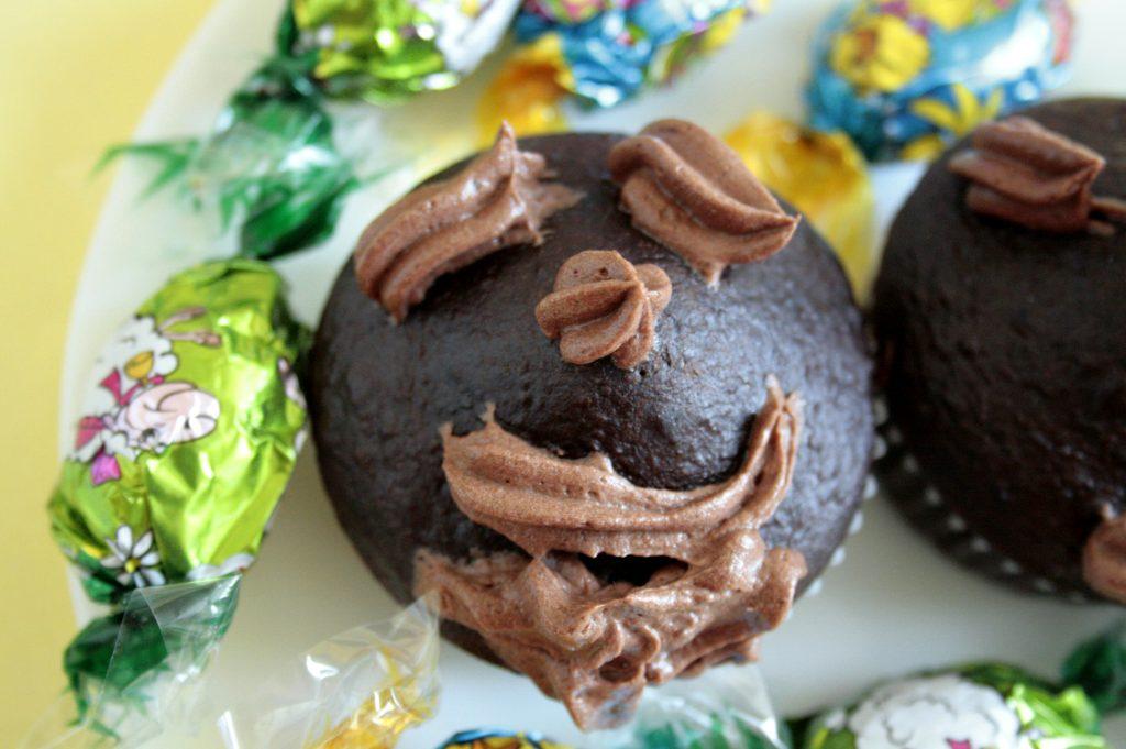 Child's Chocolate cupcake decoration
