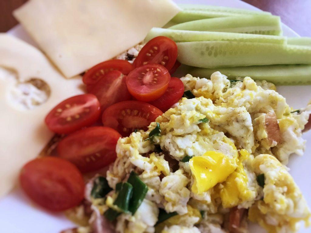 Low FODMAP egg breakfast