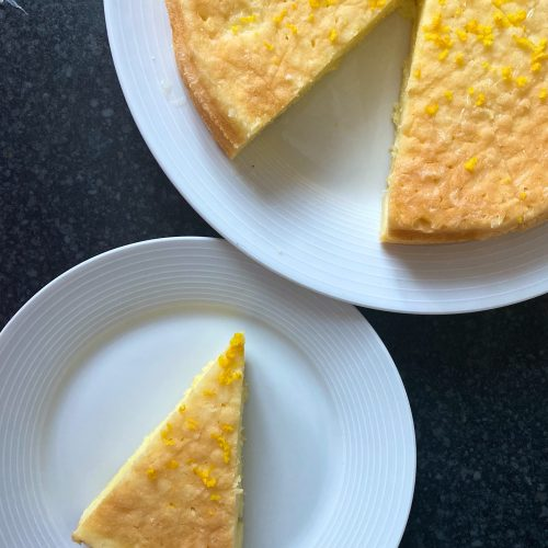 Gluten Free Lemon Drizzle Cake (Low FODMAP)