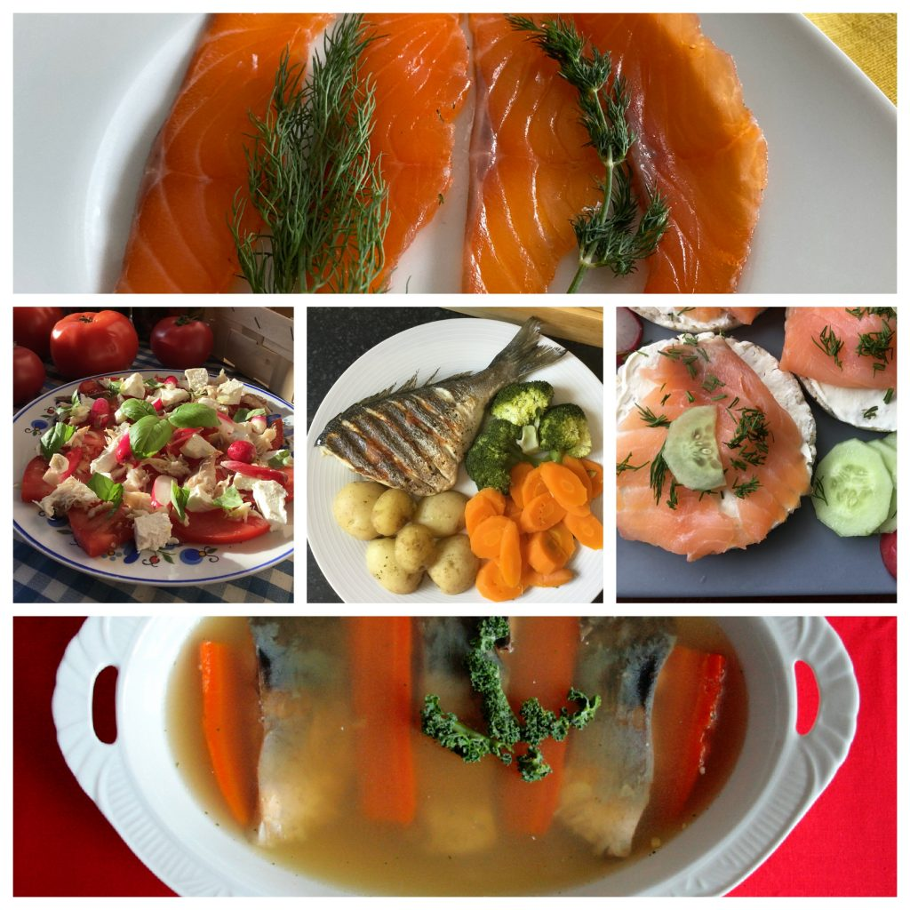 Collage- Low FODMAP fish dishes