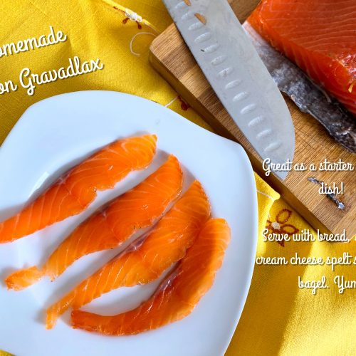 Homemade Gravadlax with text