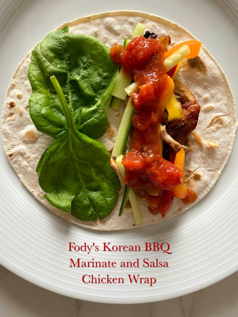Assembling Low FODMAP Korean Chicken Wraps