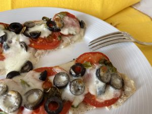 Baked Cod Pizza low FODMAP