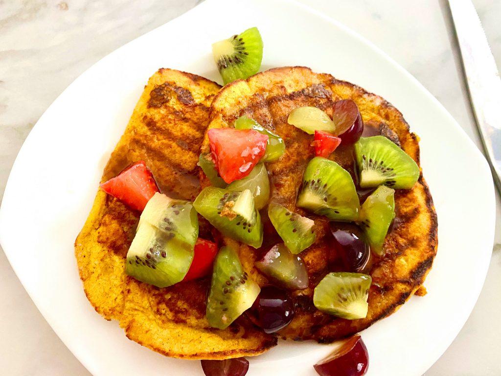 Low FODMAP Pumpkin Waffles/ Pancakes