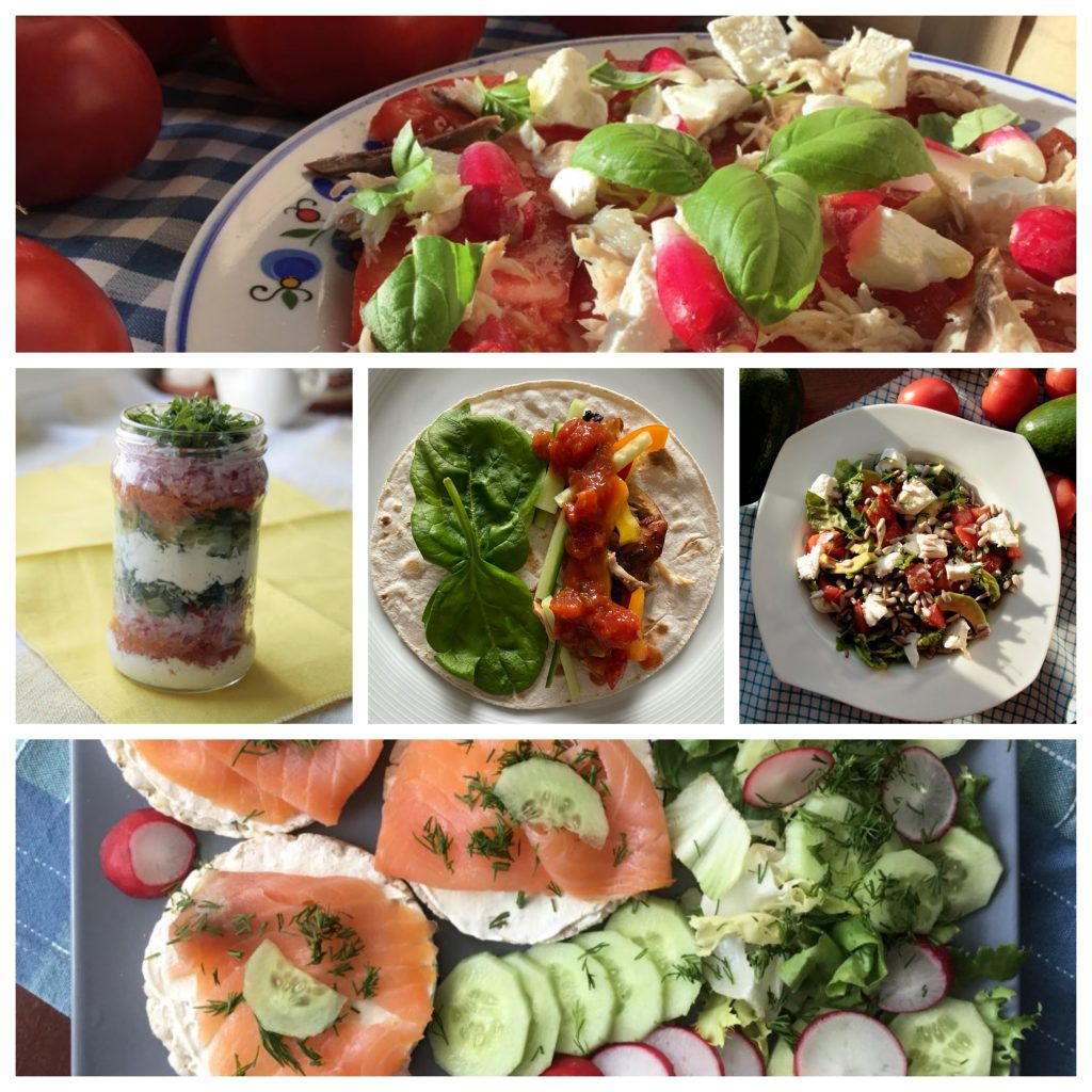 Collage - salads low FODMAP