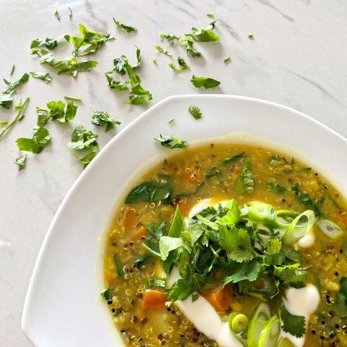 Curry Lentil Soup wit coriander (low FODMAP)