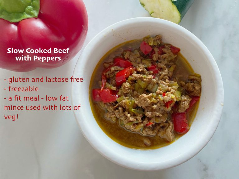 Beef Mince with Peppers (low FODMAP)_text