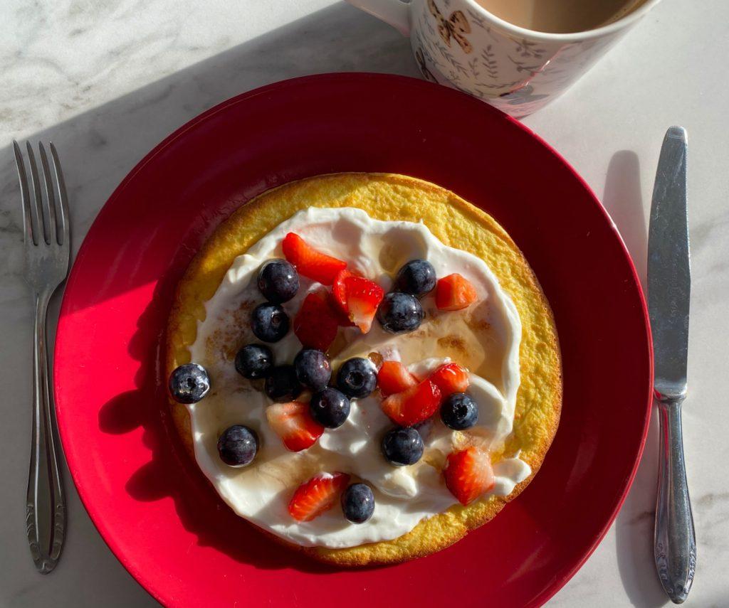 Sweet Omelette for Breakfast (Low FODMAP)