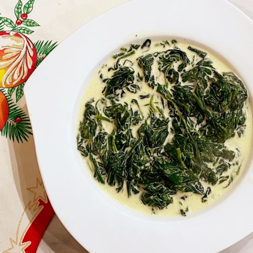 The Best Garlicky Creamy Spinach (Low FODMAP)