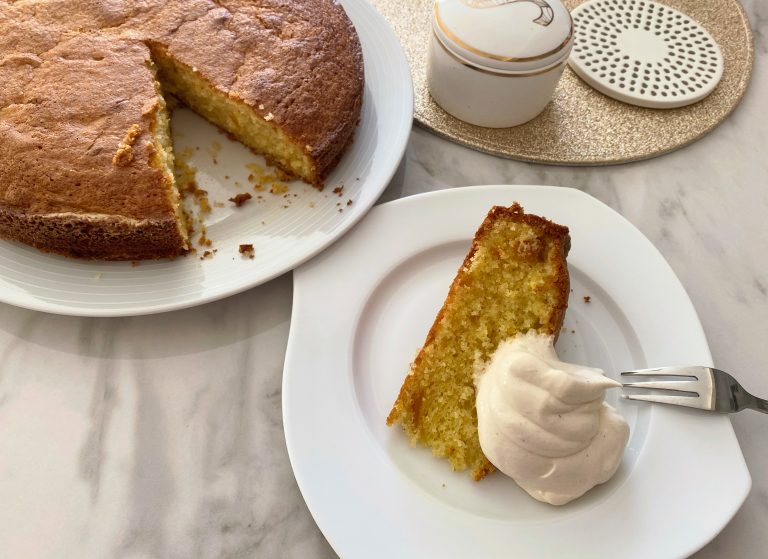 Orange Cake with Cinnamon Whipped Cream