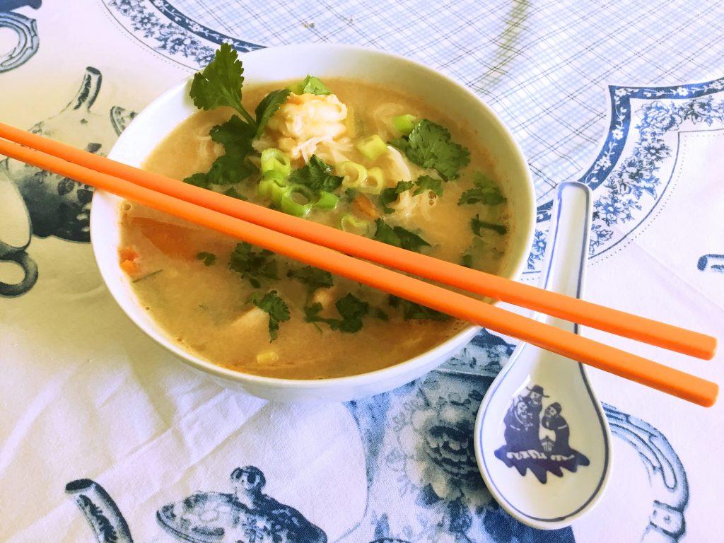 One Pot Thai Coconut Prawn Soup (Low FODMAP)