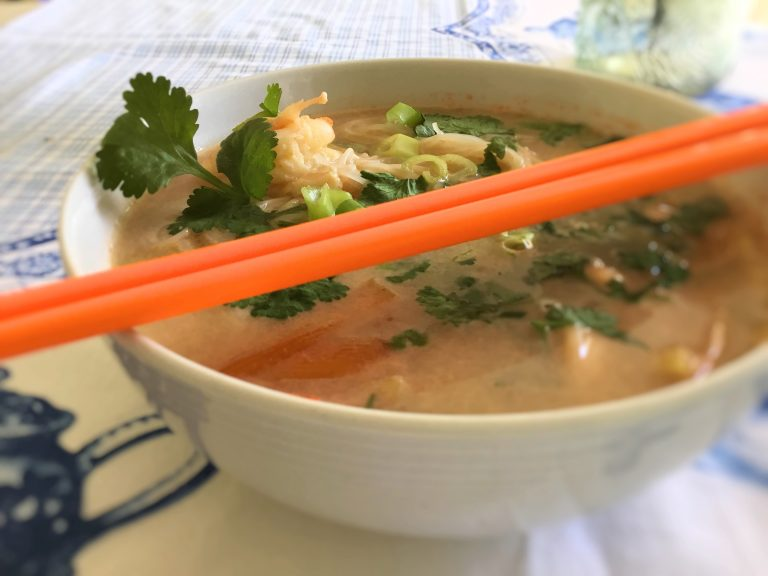 One Pot Thai Coconut Prawn Soup