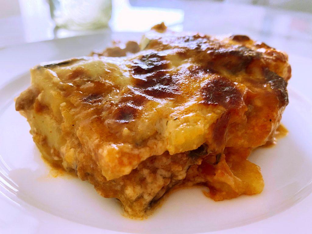 Lamb Moussaka portion